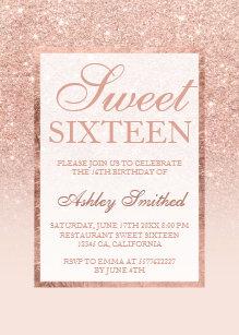 sweet 16 invitations zazzle co uk
