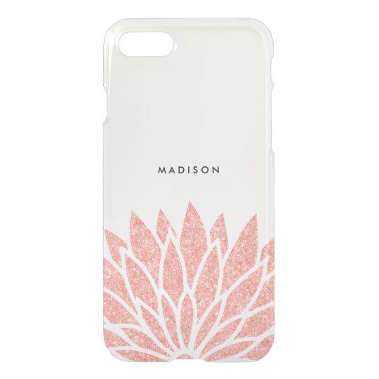 Faux Rose Gold Glitter Flower iPhone 8/7 Case