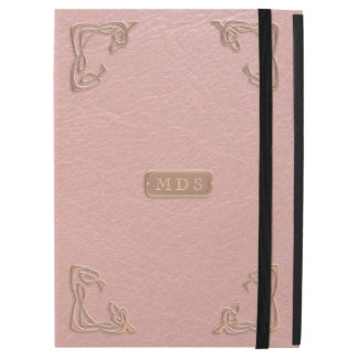 Faux Rose Gold Leather Fancy Corners iPad Pro Case