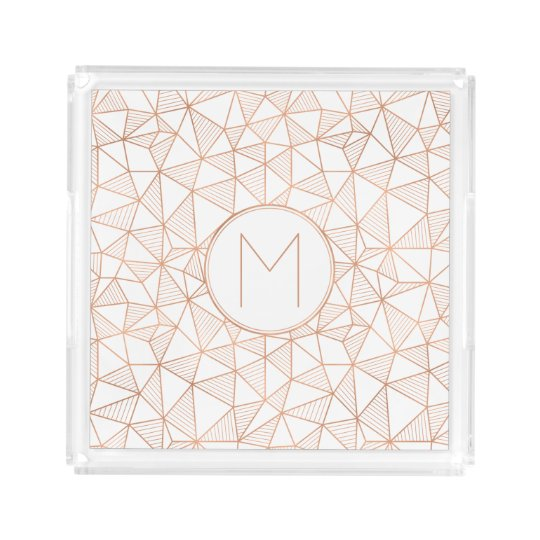 Faux Rose Gold Modern Geometric