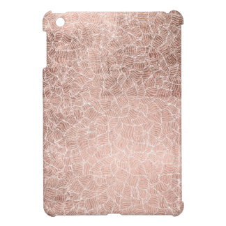 Faux rose gold stripes geometric modern pattern iPad mini case