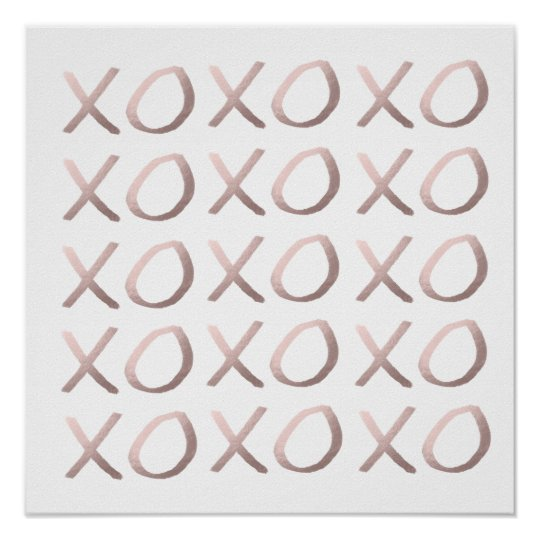 faux rose gold typography hugs and kisses xoxo