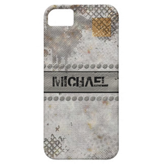 Faux Rough Industrial Grunge Masculine Concrete iPhone 5 Cover