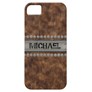 Faux Rough Industrial Grunge Masculine Wood Grain Case For The iPhone 5