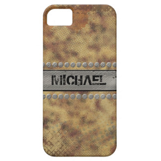 Faux Rough Industrial Grunge Mens Masculine Indie Case For The iPhone 5