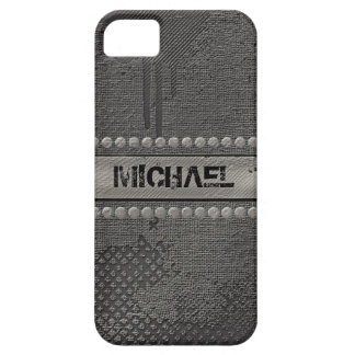 Faux Rough Industrial Grunge Mens Masculine Indie iPhone 5 Case