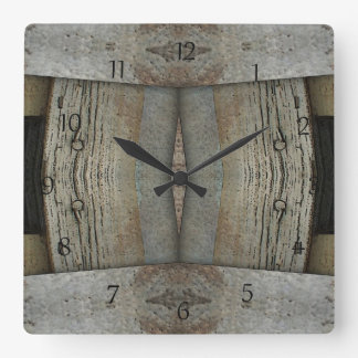 Faux Rusted Metal and Barn Wood Wall Clock