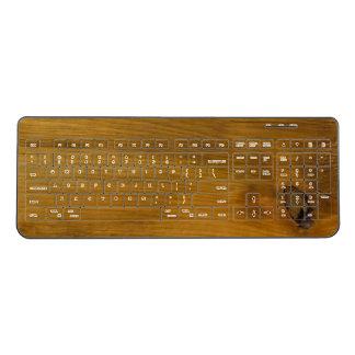 Faux Rustic Barn Wood Wireless Keyboard