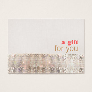 Faux Sequins Hair Salon and Spa Gift Certificate