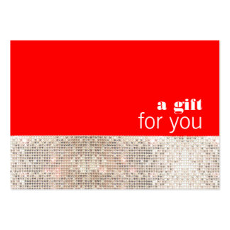 Faux Sequins Hair Salon Holiday Gift Certificate Business Card Templates