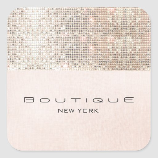 FAUX Sequins Pink Linen Look Fun and Girly Sticker