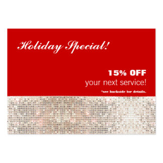 Faux Sequins Salon and Spa Holiday Gift Card Pack Of Chubby Business Cards