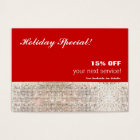 Faux Sequins Salon Spa Holiday Christmas Gift Card