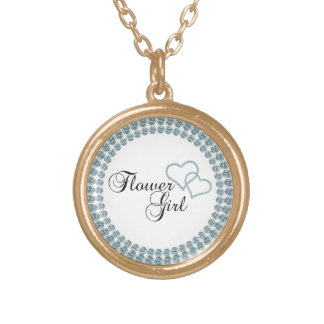 Faux Show Flower Girl Circle Custom Necklace