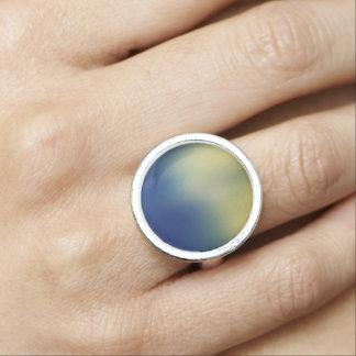 Faux Silk Effect Design-Blue Yellow