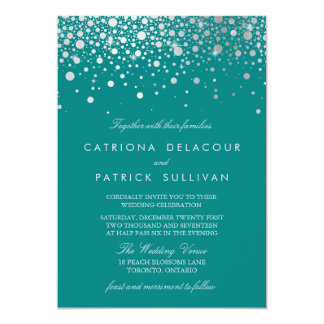 teal and silver wedding invitations & announcements | zazzle.co.uk, Wedding invitations