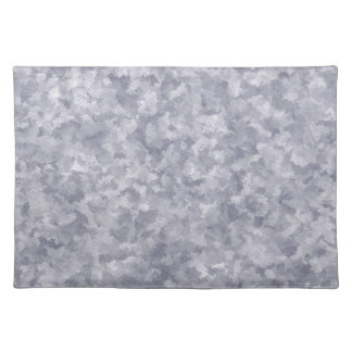 Faux Silver Galvanized Steel Metal Place Mats