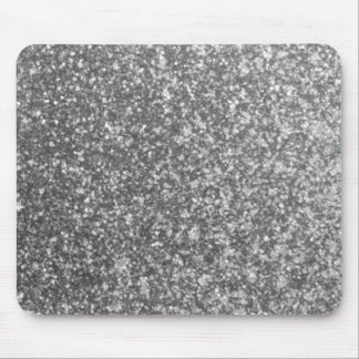Faux Silver Glitter Glamour Girly Abstract Glam Mouse Mat