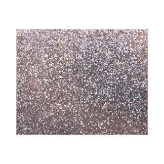 Faux Silver glitter graphic Gallery Wrap Canvas