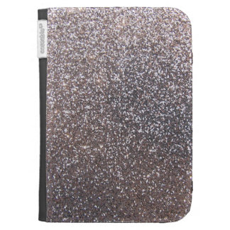 Faux Silver glitter graphic Kindle Covers