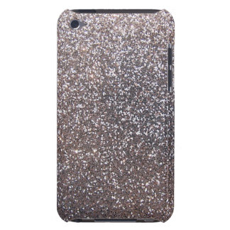Faux Silver glitter graphic Barely There iPod Cases