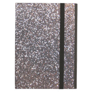 Faux Silver glitter graphic iPad Folio Cases