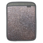 Faux Silver glitter graphic iPad Sleeve