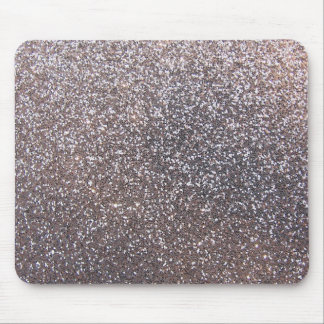 Faux Silver glitter graphic Mouse Pad