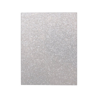 Faux Silver glitter graphic Notepad