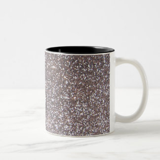 Faux Silver glitter graphic Two-Tone Coffee Mug