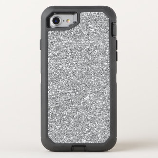 Faux silver glitter iPhone 7 defender