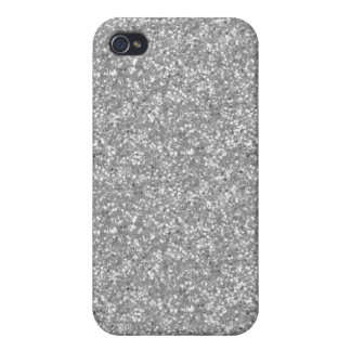 Faux Silver Glitter iPhone 4/4S Cases
