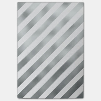 Faux Silver Gray White Metallic Diagonal Grey Post-it Notes