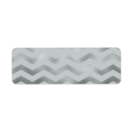 Faux Silver Grey Foil Chevron Zig Zag Texture