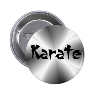 Faux Silver Karate Round Button