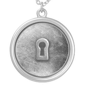 Faux Silver Key Hole necklace