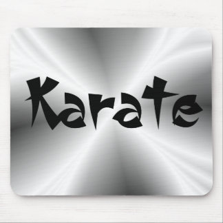 Faux Silver Metallic Karate Mouse Mat