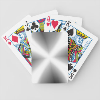 Faux Silver Metallic Playing Cards
