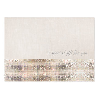 Faux Silver Sequins Beauty Gift Certificate Pack Of Chubby Business Cards