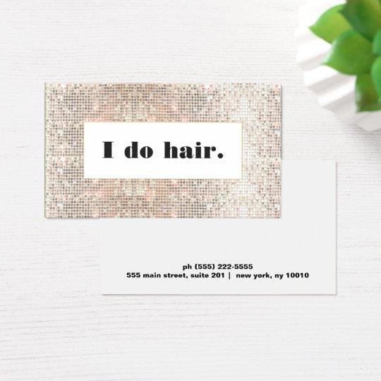 Faux Silver Sequins Bold Hair Stylist Salon Business