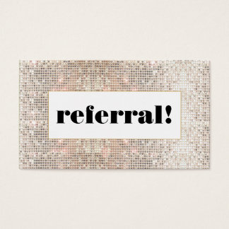 Faux Silver Sequins  Customer Referral