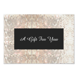 Faux Silver Sequins Spa and Salon Gift Certificate 3.5x5 Paper Invitation Card
