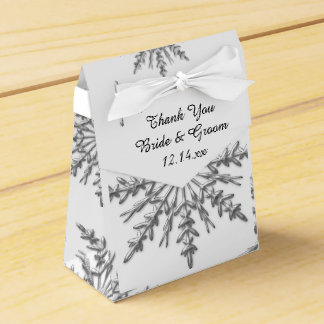 Faux Silver Snowflakes Winter Wedding Favour Box