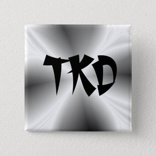 Faux Silver TKD Button