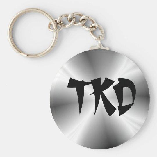 Faux Silver TKD Keychain