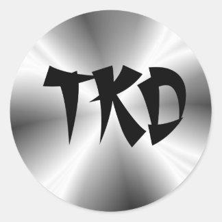 Faux Silver TKD Round Sticker