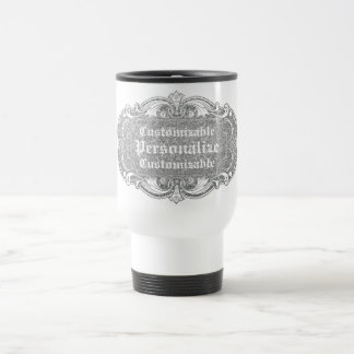 Faux Silver to Personalize Travel Mug