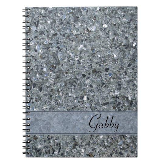 Faux Sparkle Notebook