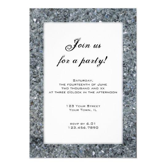 Faux Sparkle Party Invitation