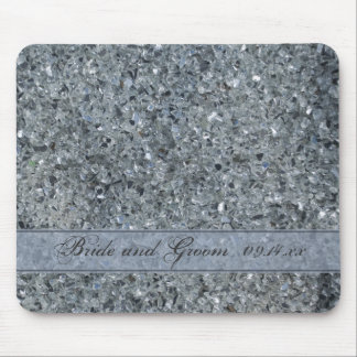 Faux Sparkle Wedding Mouse Mat